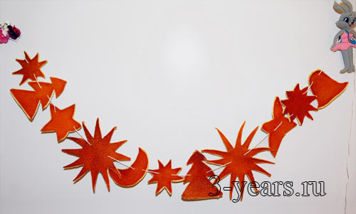 Поделки из апельсиновых корок