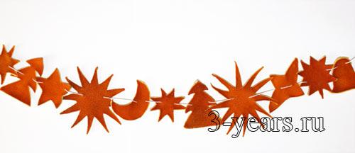 гирлянда из апельсиновых корок
