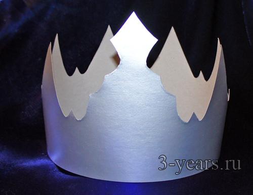Как сделать корону из бумаги своими руками для мальчика