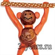 обезьянка из каштанов