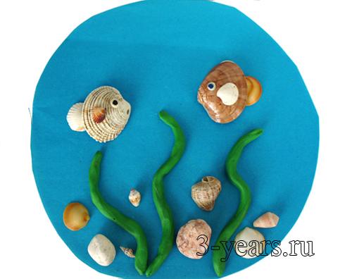 Поделки из ракушек с ребенком 4 лет