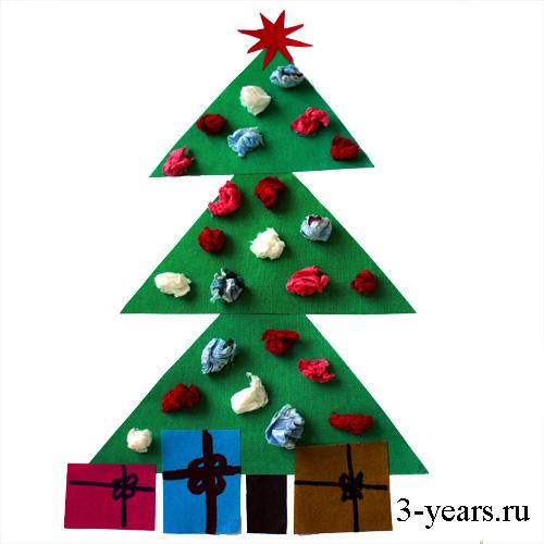 Новогодняя игрушка елочка как сделать