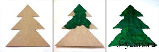 Ёлочные игрушки из картона и цветной бумаги