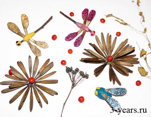 Поделки из семян клёна